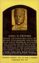 spo003871 - James H O'Rourke Baseball Hall of Fame Card, Old Vintage Antique Postcard Post Card