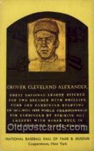 spo003872 - Grover Cleveland Alexander Baseball Hall of Fame Card, Old Vintage Antique Postcard Post Card