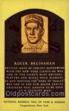 spo003875 - Roger Bresnahan Baseball Hall of Fame Card, Old Vintage Antique Postcard Post Card