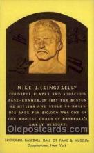 spo003876 - Mike J king Kelly Baseball Hall of Fame Card, Old Vintage Antique Postcard Post Card
