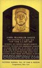 spo003878 - John Franklin Baker Baseball Hall of Fame Card, Old Vintage Antique Postcard Post Card