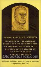 spo003879 - Bryron Bancroft Johnson Baseball Hall of Fame Card, Old Vintage Antique Postcard Post Card