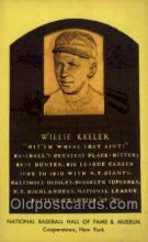 spo003880 - Willie Keeler Baseball Hall of Fame Card, Old Vintage Antique Postcard Post Card