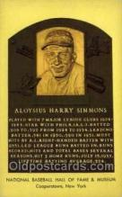 spo003881 - Aloysius Harry Simmons Baseball Hall of Fame Card, Old Vintage Antique Postcard Post Card