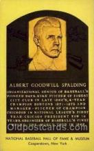 spo003884 - Albert Goodwill Spalding Baseball Hall of Fame Card, Old Vintage Antique Postcard Post Card