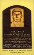spo003885 - Edd J Roush Baseball Hall of Fame Card, Old Vintage Antique Postcard Post Card