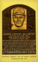 spo003887 - Joseph Vincent McCarthy Baseball Hall of Fame Card, Old Vintage Antique Postcard Post Card