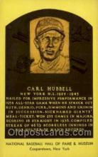 spo003890 - Carl Hubbell Baseball Hall of Fame Card, Old Vintage Antique Postcard Post Card