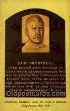 spo003891 - Dan Brouthers Baseball Hall of Fame Card, Old Vintage Antique Postcard Post Card