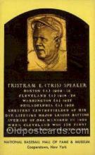 spo003892 - Tristram E Tris Speaker Baseball Hall of Fame Card, Old Vintage Antique Postcard Post Card