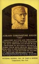 spo003893 - Adrian Constantine Anson Cap Baseball Hall of Fame Card, Old Vintage Antique Postcard Post Card