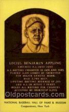 spo003896 - Lucius Benjamin Appling Baseball Hall of Fame Card, Old Vintage Antique Postcard Post Card