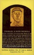 spo003897 - Charles A Kid Nichols Baseball Hall of Fame Card, Old Vintage Antique Postcard Post Card