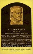 spo003899 - William J Klem Baseball Hall of Fame Card, Old Vintage Antique Postcard Post Card