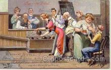spo004001 - Artist Arthur Thiele, Bowling Postcard Postcards
