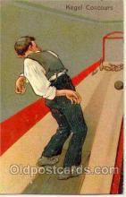 spo004004 - Artist PFB, Bowling Postcard Postcards