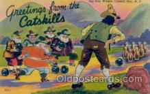 spo004058 - Catskill Mts, NY USA, Bowling Postcard Postcards
