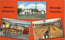 spo004206 - Seaman's Recreation, Pewaukee, Wisconsin, USA, Bowling Alley Postcard Postcards