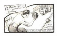 spo004223 - Bowling, Bowling Alley, Postcard Postcards