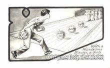spo004224 - Bowling, Bowling Alley, Postcard Postcards