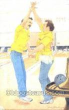 spo004233 - Bowling Old Vintage Antique Postcard Post Cards