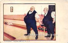 spo004247 - Old Vintage Bowling Postcard Post Card