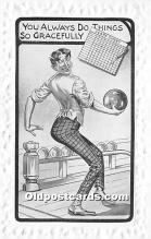 spo004251 - Old Vintage Bowling Postcard Post Card