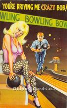 spo004252 - Old Vintage Bowling Postcard Post Card