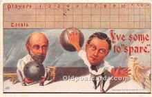 spo004254 - Old Vintage Bowling Postcard Post Card