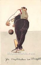 spo004258 - Old Vintage Bowling Postcard Post Card