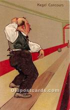 spo004259 - Old Vintage Bowling Postcard Post Card