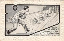 spo004260 - Old Vintage Bowling Postcard Post Card