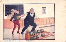 spo004263 - Old Vintage Bowling Postcard Post Card