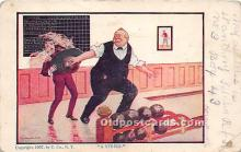 spo004265 - Old Vintage Bowling Postcard Post Card