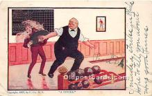 spo004292 - Old Vintage Bowling Postcard Post Card