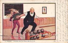 spo004293 - Old Vintage Bowling Postcard Post Card
