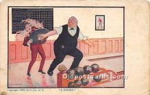 spo004299 - Old Vintage Bowling Postcard Post Card