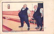 spo004308 - Old Vintage Bowling Postcard Post Card