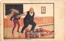 spo004317 - Old Vintage Bowling Postcard Post Card