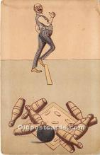 spo004326 - Old Vintage Bowling Postcard Post Card