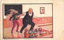 spo004335 - Old Vintage Bowling Postcard Post Card