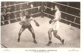 spo005337 - 159-T J. Beckett & G. Carpentier Beagles Boxing Postcard Postcards