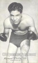 spo005430 - Manuel Oritz Boxing exhibit non postcard postcards