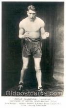 spo005620 - Ernie Simmons Boxing Postcard Postcards
