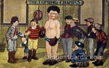 spo005731 - Boxing Postcard Post Cards Old Vintage Antique Postcard
