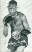 spo005806 - Sandy Saddler Boxing, Old Vintage Antique Postcard Post Cards