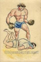 spo005868 - Artist A Mortre Boxing, Old Vintage Antique Postcard Post Cards