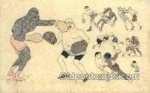 spo005870 - Boxing Postcard Post Card Old Vintage Antique