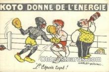 spo005872 - Boxing Postcard Post Card Old Vintage Antique