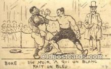 spo005875 - Boxing Postcard Post Card Old Vintage Antique